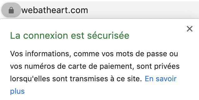 Web at Heart utilise le protocole HTTPS.