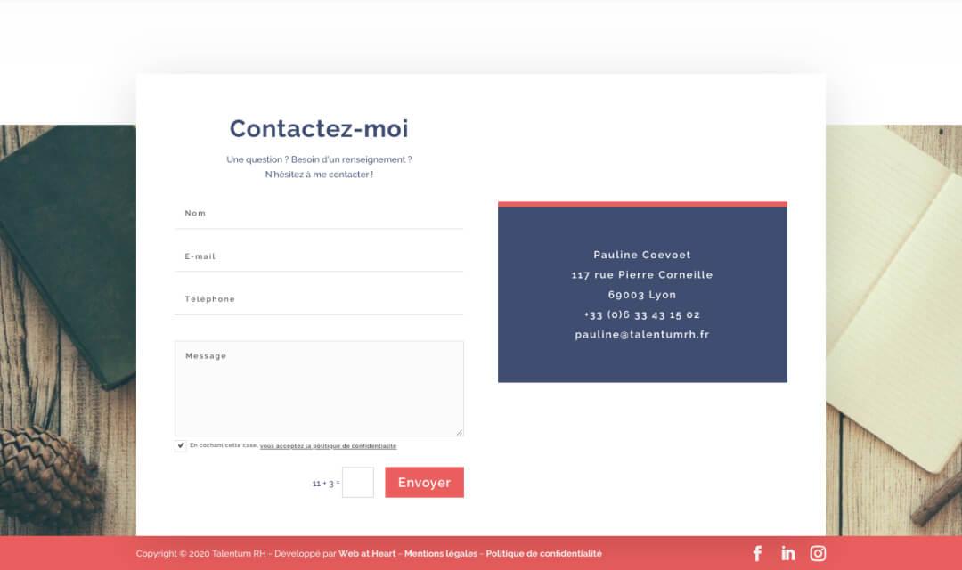 contact talentum rh 1 - Web at Heart, agence digitale à Lyon