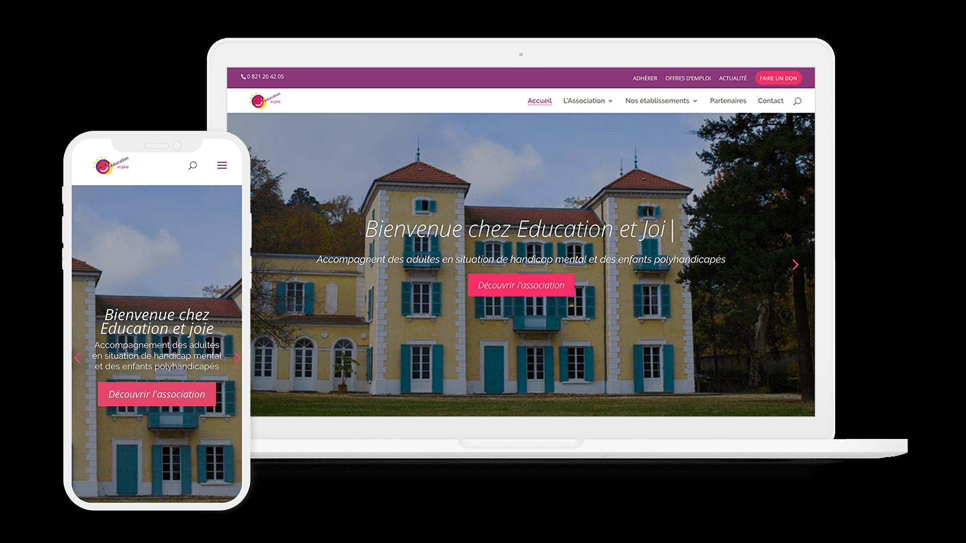 educationetjoie 1 - Web at Heart, agence digitale à Lyon