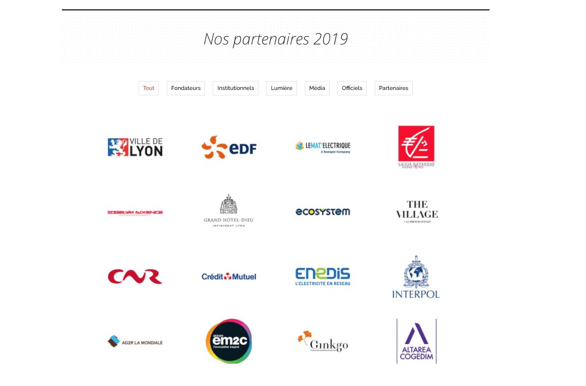 Design portfolio du site du club de la fête des lumières de Lyon par Web at Heart agence web à Lyon